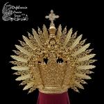 Corona plata de Ley doble cara chapada en oro