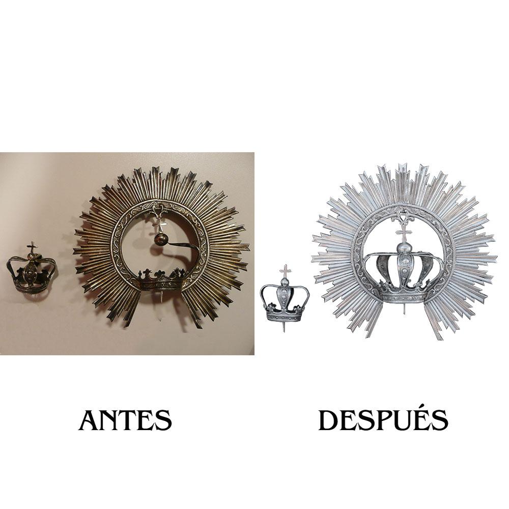 Corona Virgen y Niño Daimiel