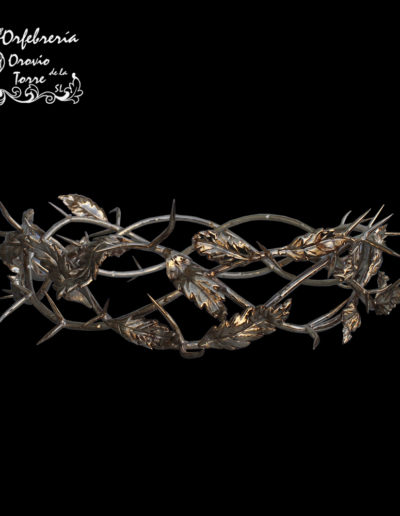 Corona espinas 3 hilos con hojas