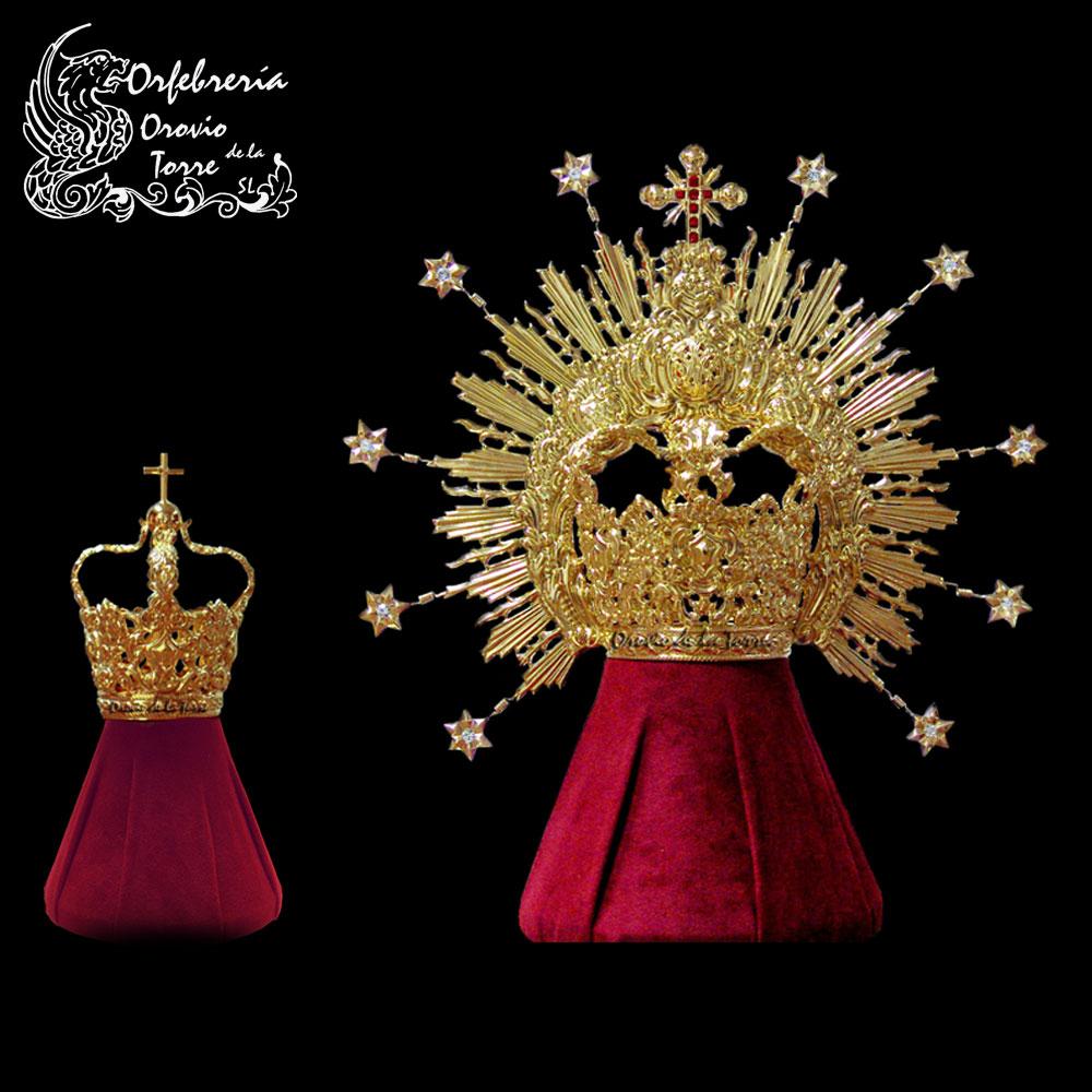 Corona 10 de 8 cm y corona niño 3 cm