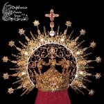 Corona Plata sobredora con marfiles