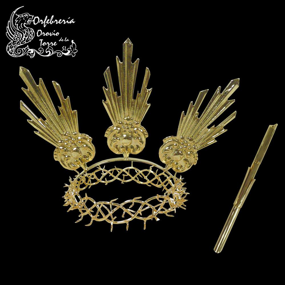 Corona de espinas con potencias y caña