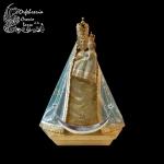 Media luna, coronas Virgen y Niño
