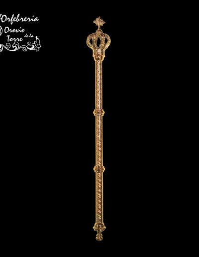 Cetro grabado Virgen 28cm-corona real
