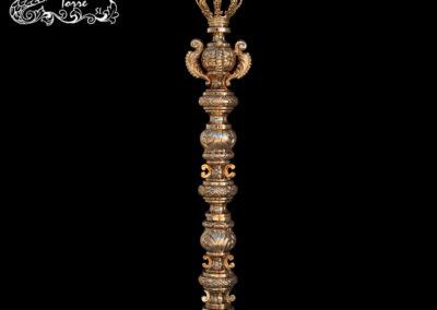 Cetro repujado Virgen 30cm