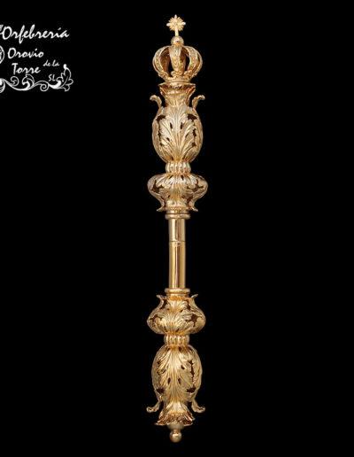 Cetro repujado Virgen 32cm(PZB)