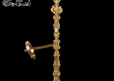 Cetro repujado Virgen 36cm