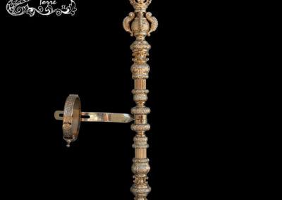 Cetro repujado Virgen 40cm