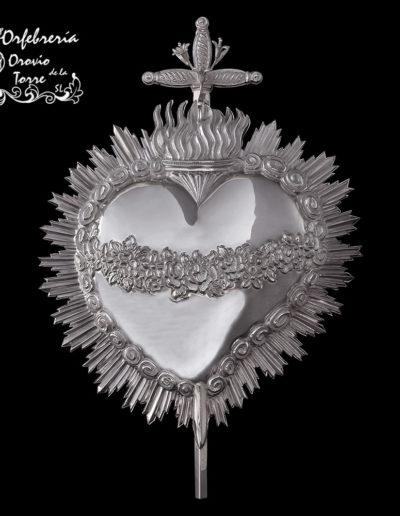 Corazón doble cara Plata-Yecla